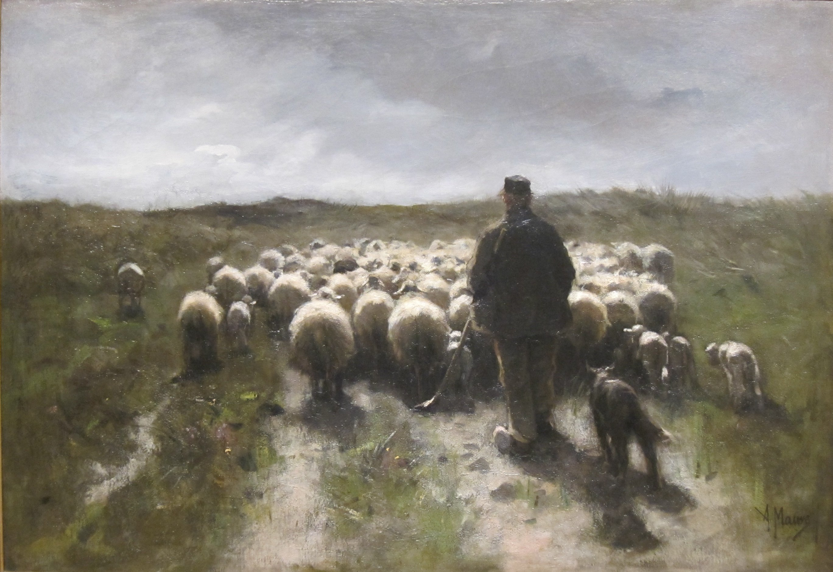 'Shepherd_and_Sheep'_by_Anton_Mauve,_Cincinnati_Art_Museum